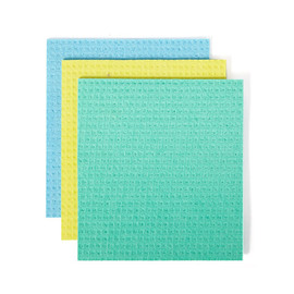Squeeze Cellulose Sponge Cloths, 3-pack