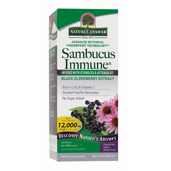 Sambucus Elderberry Syrup, with Echinacea & Astragalus, 4 oz.