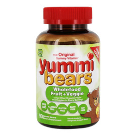 Yummi Bears WholeFood Fruit + Veggie Supplement 90 Count