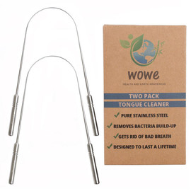 Stainless Steel Tongue Cleaner, 2-Pack