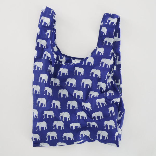 Reusable Shopping Bag, Blue Elephant