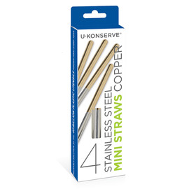 Stainless Steel Mini Straws, Copper