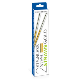 Stainless Steel Straws, Gold