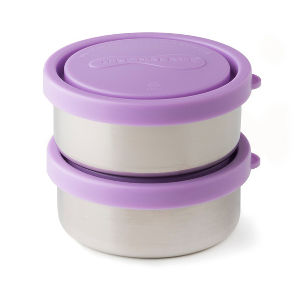 5oz Small Stainless Steel Round Containers, (set of 2)