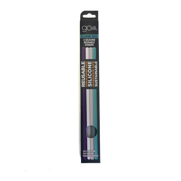 Reusable Silicone Straws, Extra Long