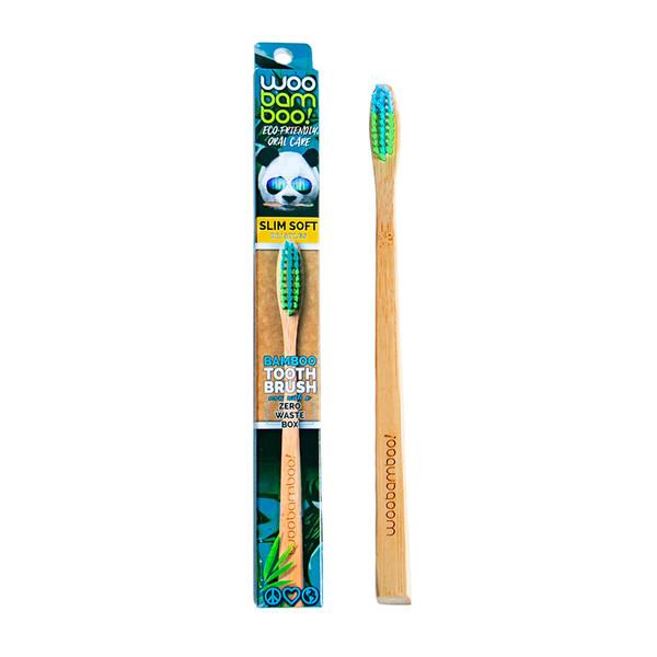 Slim Bamboo Toothbrush, Soft