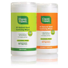 Natural Hand Sanitizing Wipes, Canister