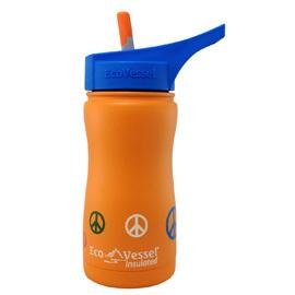 insulated straw bottle Orange Peace