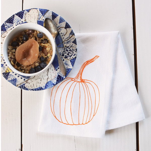 Cotton Dinner Napkins, Pumpkins