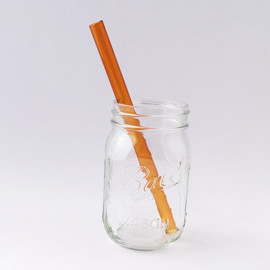 Colored Glass Smoothie Straw