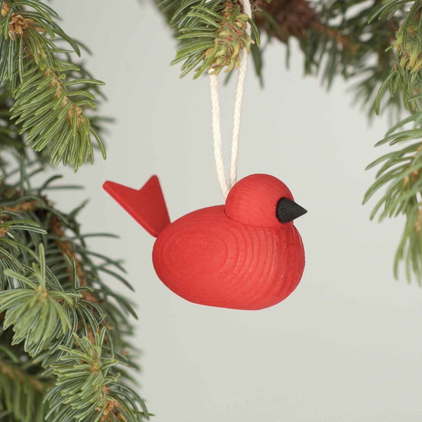 Wood Bird Ornament