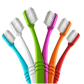Toothbrush (made from recycled yogurt cups), Assorted Colors