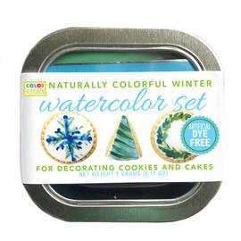Winter Watercolor Food Color Set