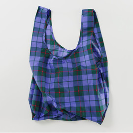 Reusable Shopping Bag, Blue Tartan
