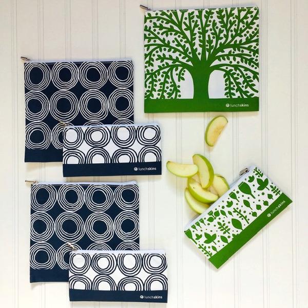 LunchSkins Zipper Set of 6- Trees & Circles