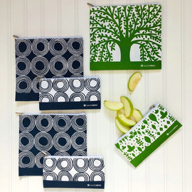 LunchSkins Zipper Set of 6- Trees & Circles