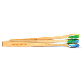 Slim Bamboo Toothbrush, Set of 3