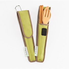 Bamboo RePEaT Utensil Set, in case