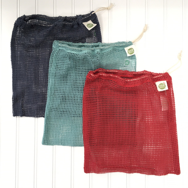 Set of 3 Colored Mesh Produce Bags