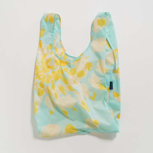 Reusable Shopping Bag, Tie Dye Aqua