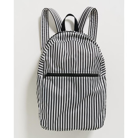 Packable Backpack, Black & White Stripe