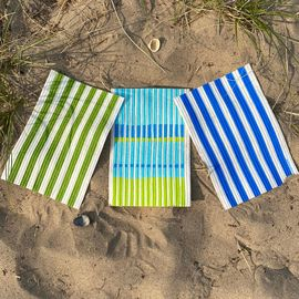 Swedish Dishcloth Set of 3, Beach Towel Stripes