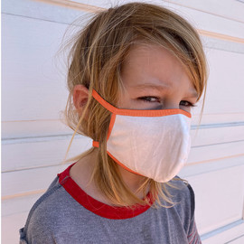 Kids Organic Cotton Face Mask with Trim
