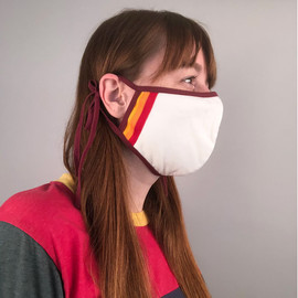 Organic Cotton Mask with Stripes
