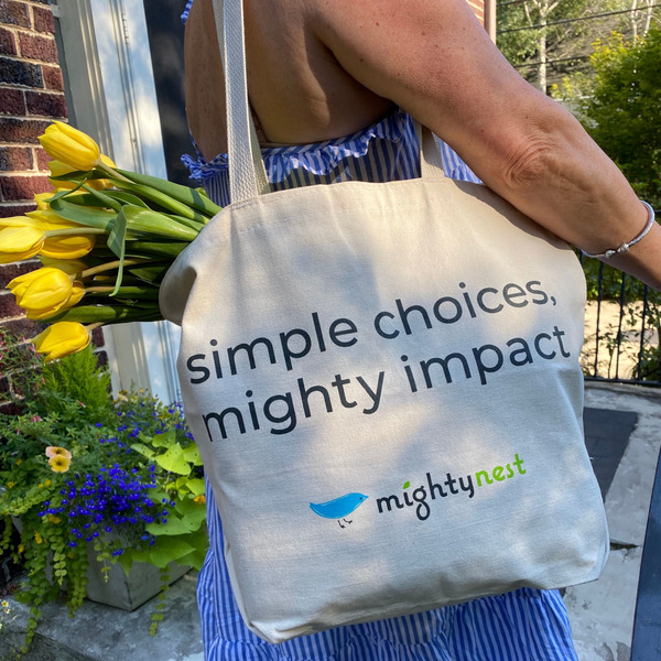MightyNest Organic Canvas Grocery Tote