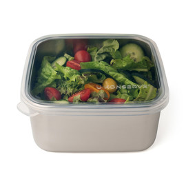 Square Stainless Steel & Silicone To-Go Containers