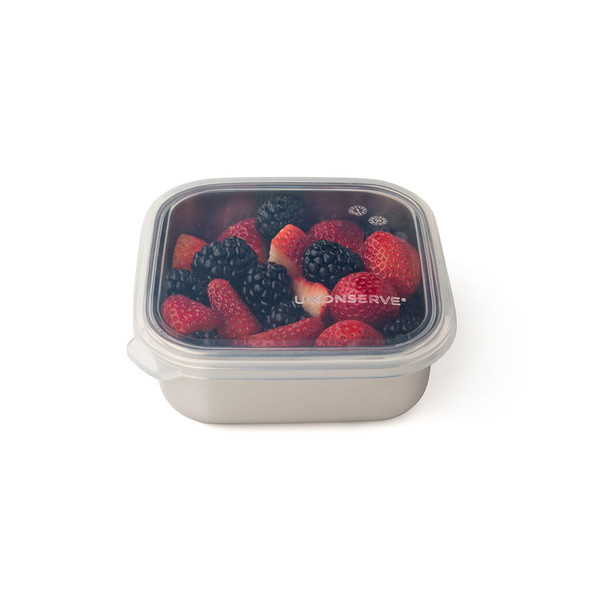 Square Stainless Steel and Silicone To-Go Containers