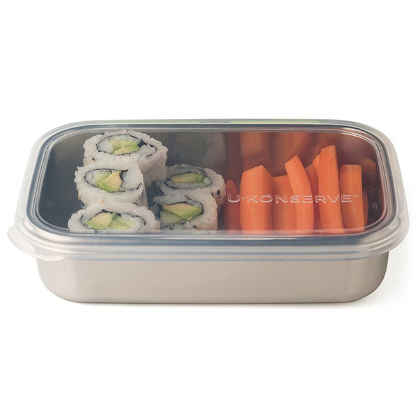 Rectangle Stainless Steel and Silicone Food Container