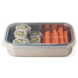 Rectangle Stainless Steel & Silicone Food Container
