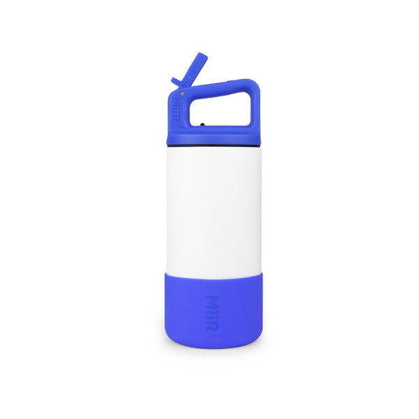12oz Wide Mouth Bottle with Straw Lid