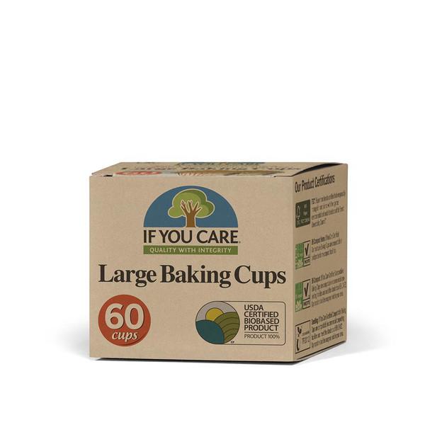 Unbleached Paper Baking Cups, Large