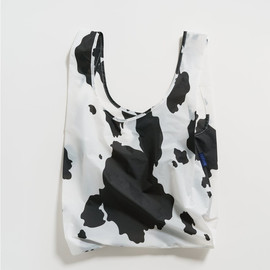 Reusable Shopping Bag, Black & White Cow